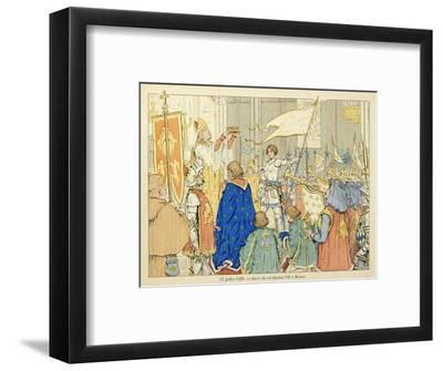 Joan of Arc at Coronation of Charles Vii in Reims, July 17, 1429-Paul de Semant-Framed Giclee Print