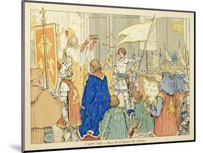 Joan of Arc at Coronation of Charles Vii in Reims, July 17, 1429-Paul de Semant-Mounted Giclee Print