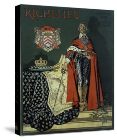 Book Cover 'Richelieu'-Maurice Leloir-Stretched Canvas Print