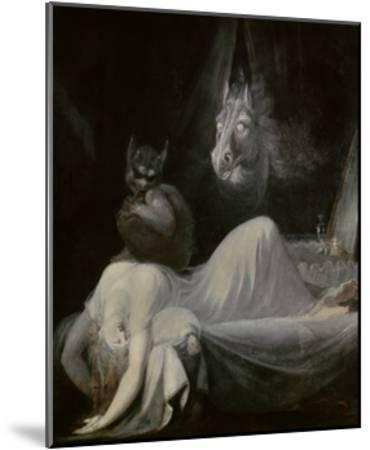 The Nightmare, Ca. 1790-91-Johann Henrich Fussli-Mounted Giclee Print