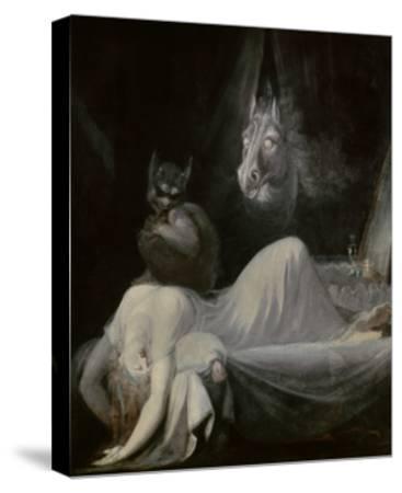 The Nightmare, Ca. 1790-91-Johann Henrich Fussli-Stretched Canvas Print