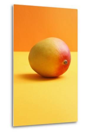 Mango on Coloured Background--Metal Print