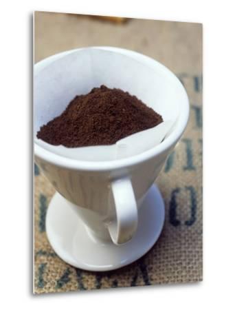 Ground Coffee in Filter-Sara Danielsson-Metal Print
