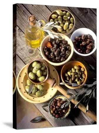 Olives in Bowls-Martina Urban-Stretched Canvas Print