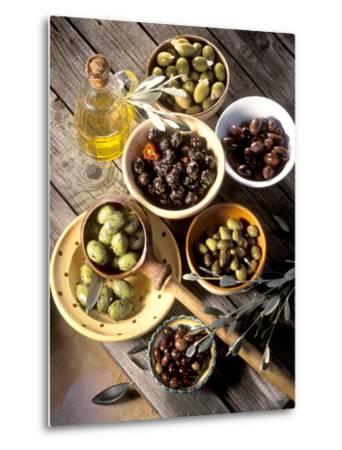 Olives in Bowls-Martina Urban-Metal Print