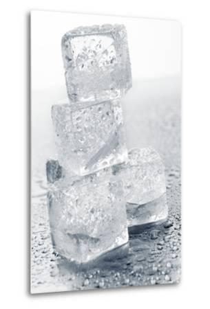 Ice Cubes in a Pile-Kr?ger and Gross-Metal Print