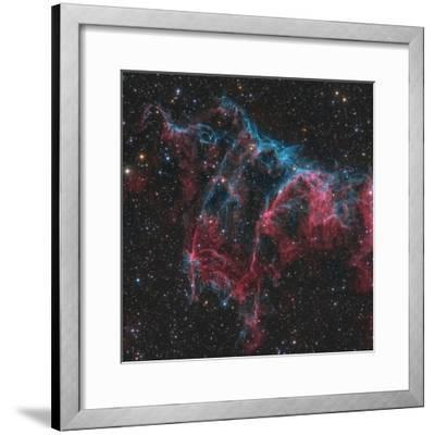 Ngc 6995, the Bat Nebula-Stocktrek Images-Framed Photographic Print