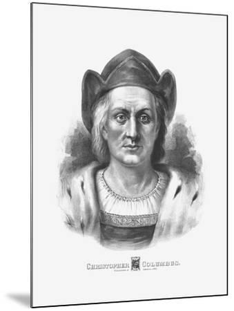 Vintage Print of Christopher Columbus-Stocktrek Images-Mounted Art Print