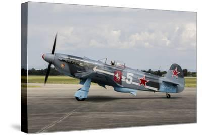 A Soviet Air Force Yak-3 Replica on the Runway-Stocktrek Images-Stretched Canvas Print