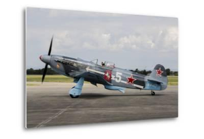 A Soviet Air Force Yak-3 Replica on the Runway-Stocktrek Images-Metal Print