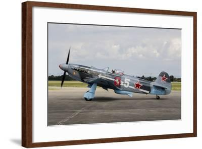 A Soviet Air Force Yak-3 Replica on the Runway-Stocktrek Images-Framed Photographic Print