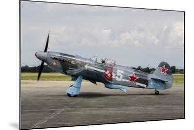 A Soviet Air Force Yak-3 Replica on the Runway-Stocktrek Images-Mounted Photographic Print