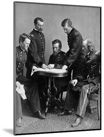 Vintage Civil War Photograph of General Philip Sheridan and His Staff-Stocktrek Images-Mounted Photographic Print