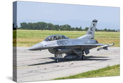 New Jersey Air National Guard F-16C Taxiing at Graf Ignatievo Air Base-Stocktrek Images-Stretched Canvas Print