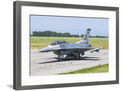 New Jersey Air National Guard F-16C Taxiing at Graf Ignatievo Air Base-Stocktrek Images-Framed Photographic Print