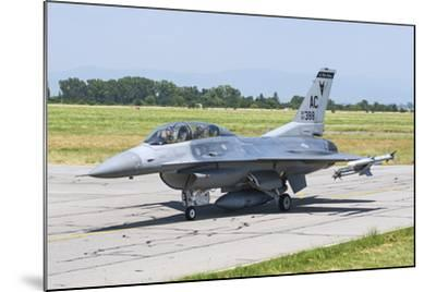 New Jersey Air National Guard F-16C Taxiing at Graf Ignatievo Air Base-Stocktrek Images-Mounted Photographic Print