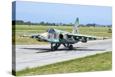 Bulgarian Air Force Sukhoi Su-25K Aircraft-Stocktrek Images-Stretched Canvas Print