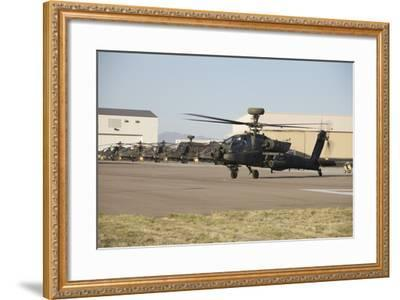 Ah-64D Apache Longbow Taxiing Out to the Launch Pad-Stocktrek Images-Framed Photographic Print