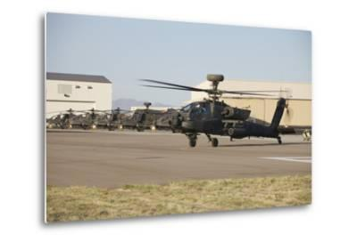 Ah-64D Apache Longbow Taxiing Out to the Launch Pad-Stocktrek Images-Metal Print