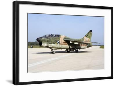 Hellenic Air Force Ta-7C Corsair Taxiing at Araxos Air Base-Stocktrek Images-Framed Photographic Print