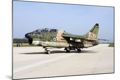 Hellenic Air Force Ta-7C Corsair Taxiing at Araxos Air Base-Stocktrek Images-Mounted Photographic Print