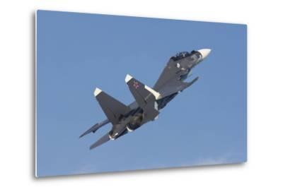 A Russian Navy Su-30Sm in Flight over Russia-Stocktrek Images-Metal Print