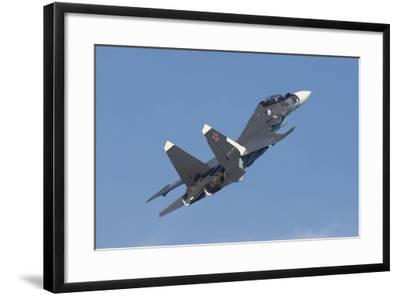 A Russian Navy Su-30Sm in Flight over Russia-Stocktrek Images-Framed Photographic Print