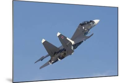 A Russian Navy Su-30Sm in Flight over Russia-Stocktrek Images-Mounted Photographic Print