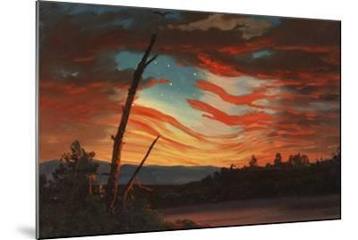 Patriotic and Symbolic Painting after the Attack on Fort Sumter-Stocktrek Images-Mounted Art Print
