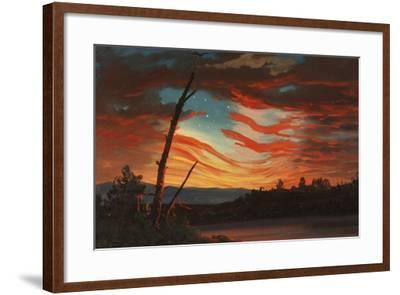 Patriotic and Symbolic Painting after the Attack on Fort Sumter-Stocktrek Images-Framed Art Print