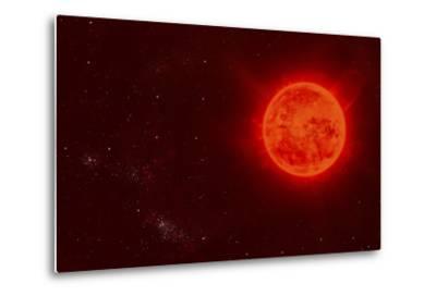 Red Dwarf Sun Floating Through Space-Stocktrek Images-Metal Print