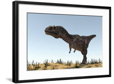 Majungasaurus in a Barren Environment-Stocktrek Images-Framed Art Print