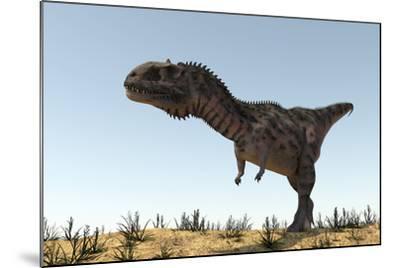 Majungasaurus in a Barren Environment-Stocktrek Images-Mounted Art Print