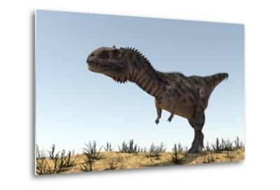 Majungasaurus in a Barren Environment-Stocktrek Images-Metal Print