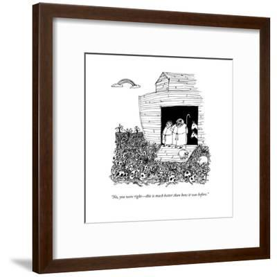 """""""No, you were right?this is much better than how it was before."""" - New Yorker Cartoon-Edward Steed-Framed Premium Giclee Print"""