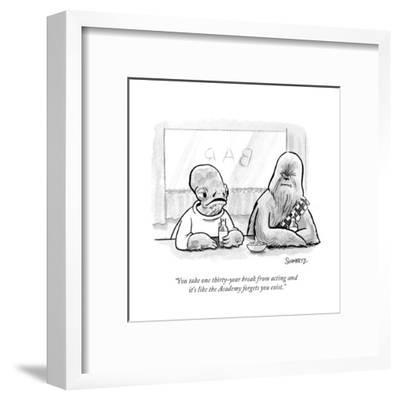"""""""You take one thirty-year break from acting and it's like the Academy forg?"""" - Cartoon-Benjamin Schwartz-Framed Premium Giclee Print"""