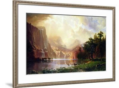 Albert Bierstadt Between the Sierra Nevada Mountains-Albert Bierstadt-Framed Art Print