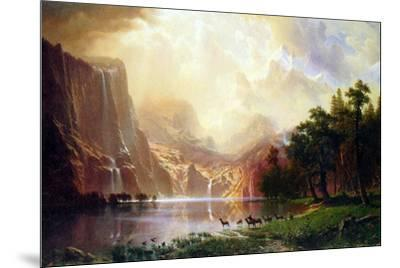 Albert Bierstadt Between the Sierra Nevada Mountains-Albert Bierstadt-Mounted Art Print