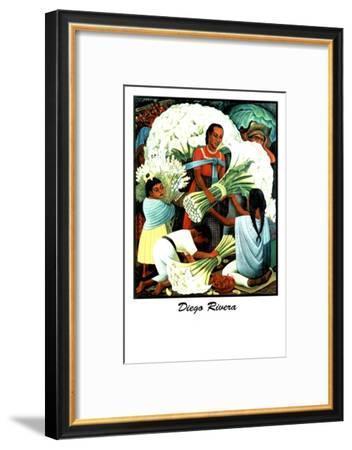 Diego Rivera (Vendedores de Flores)-Diego Rivera-Framed Art Print