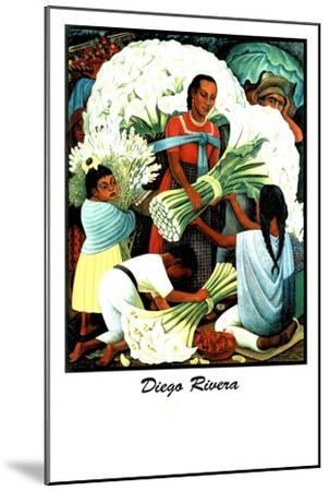 Diego Rivera (Vendedores de Flores)-Diego Rivera-Mounted Art Print