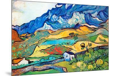 Vincent Van Gogh Les Alpilles a Mountain Landscape near Saint-Remy-Vincent van Gogh-Mounted Art Print