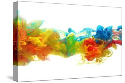 Colorful Ink in Water-SSilver-Stretched Canvas Print