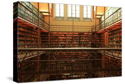 Large Old Dutch Library in the Rijksmuseum in Amsterdam-Zarya Maxim-Stretched Canvas Print