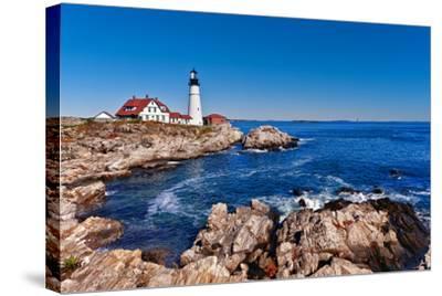 Portland Head Lighthouse in Cape Elizabeth, Maine-leekris-Stretched Canvas Print