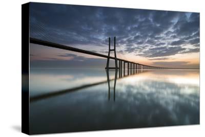 Ponte Vasco Da Gama E Rio Tejo- p_rocha-Stretched Canvas Print