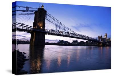 Historic Bridge in Cincinnati-benkrut-Stretched Canvas Print