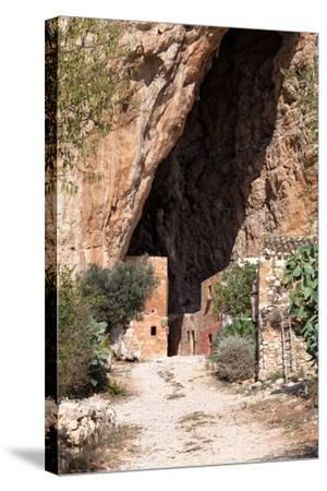 Mangiapane Cave, Sicily : A Village in A Cavern-Spumador-Stretched Canvas Print