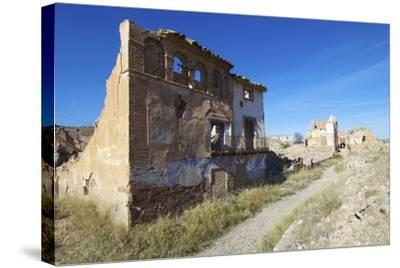 Belchite Village Destroyed in a Bombing during the Spanish Civil War, Saragossa, Aragon, Spain-pedrosala-Stretched Canvas Print