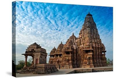 Kandariya Mahadeva Temple, Khajuraho, India, Unesco Heritage Site.-Rudra Narayan Mitra-Stretched Canvas Print