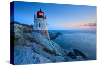 Castle Hill Lighthouse at Dusk-enfig-Stretched Canvas Print